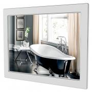 Зеркало Беатриче 80x80 белое/патина хром