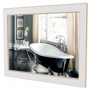 Зеркало Беатриче 100x80 белое/патина золото
