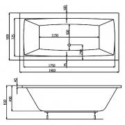Ванна Vita 190x90 с ножками