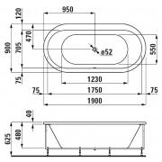Ванна Solutions 190x90 з рамою