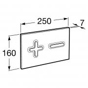 Кнопка P64 Dual 3/6 хром