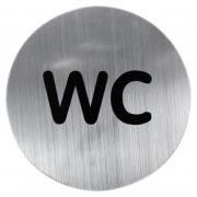Табличка на двери WC хром