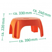 Лавка для ног Eco оранжевая