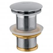 Донний клапан для раковини Click-Clack, хром