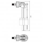Клапан впускной Compact 1/2``, боковой подвод