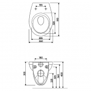 Інсталяційна система Oli 80 883422+чаша унітаза Idol з сидінням M1310002U