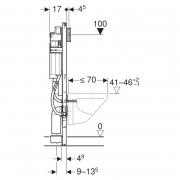 Инсталляционный модуль Duofix для унитаза с площадками для поручней