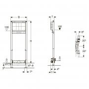 Інсталяційний модуль Duofix для душових систем