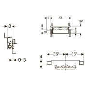 Інсталяційний модуль Kombifix для душового трапа