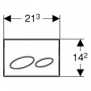 Кнопка Kappa 20, біла