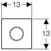 Декоративна панель для змиву пісуара, сталь