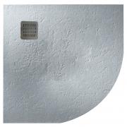 Поддон Terran 90x90 полукруглый, цемент