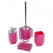 Дозатор Colours для рідкого мила рожевий