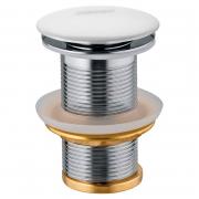 Донний клапан для раковини Click-Clack, білий