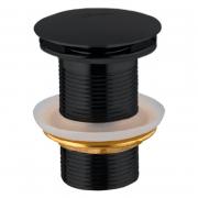 Донный клапан для раковины Click-Clack черный