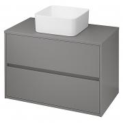 Шкафчик для раковины Crea 80 со столешницей, матовый серый