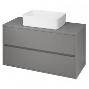 Шкафчик для раковины Crea 100 со столешницей, матовый серый