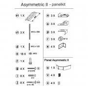 Крепеж для фронтальной панели Asymmetric II