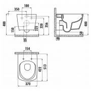 Інсталяційна система Oli 120 Plus + чаша унітаза Elegant Rim-Off