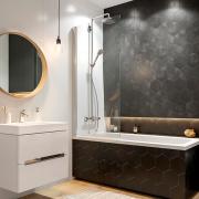 Шторка для ванны Geo Reflex 150