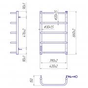 Рушникосушка Стандарт HP -I 65x43/15 TR
