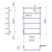 Рушникосушка Стандарт HP-I 80x53/15 TR