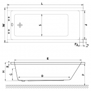 Ванна Base Standard Plus 150x70 c ножками