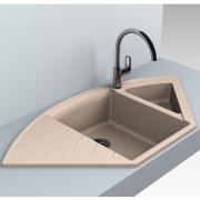 Кухонна мийка Europe 110 врізна матова пісочна