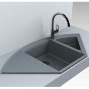 Кухонна мийка Europe 110 врізна матова сіра