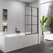 Шторка для ванны Superia Black 100