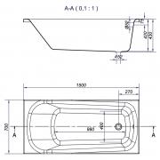 Ванна Nao 150x70