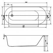 Акриловая ванна Oktawia 150x70