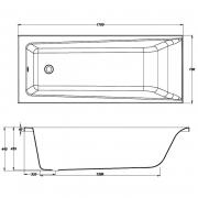 Акрилова ванна Lorena 170x70 з ніжками