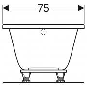 Ванна Selnova 160x75 з ніжками