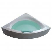 Акриловая ванна Play 160x160 с ножками, панелью и белой ручкой