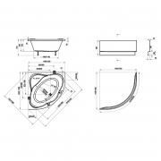 Акриловая ванна NewDay 150x150