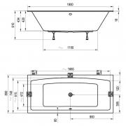 Ванна Formy 02 Slim 180x80
