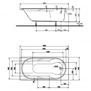 Акрилова ванна Laguna 160x75