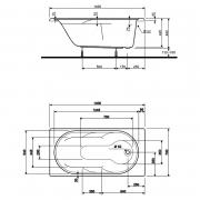 Акриловая ванна Laguna 140x70