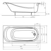 Ванна Saga 170x80