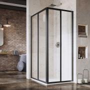 Душевая штора SRV 2-100 Transparent+черный
