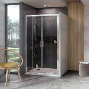 Душевая дверь 10DP4-150 Transparent+сатин