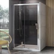 Душові двері 10DP2-120 Transparent+сатин