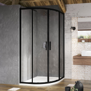 Душевая штора BLSCP 4-90 Transparent+черный