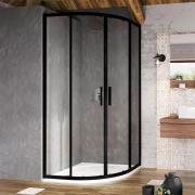 Душова штора BLSCP 4-80 Transparent+чорний