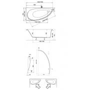 Акриловая ванна Avocado 150х75 левая