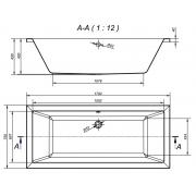 Акриловая ванна Intro 170x75