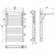 Полотенцесушитель Сириус П12 50x90 левый, хром