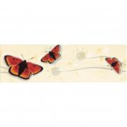 Фриз Almeria Beige (бабочки)