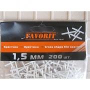Крестики для кафеля, 1,5 мм (200 шт)